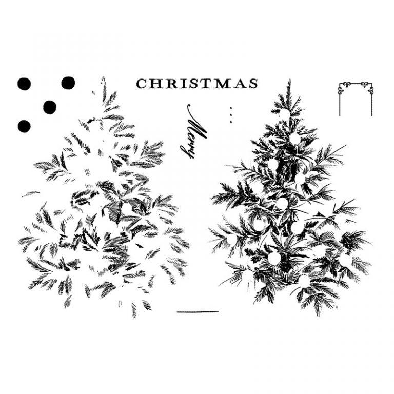 Merry Christmas Tree stamp set
