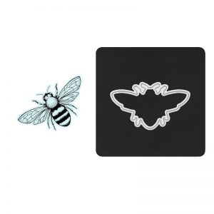 Country Bee Stamp + Thin Cut