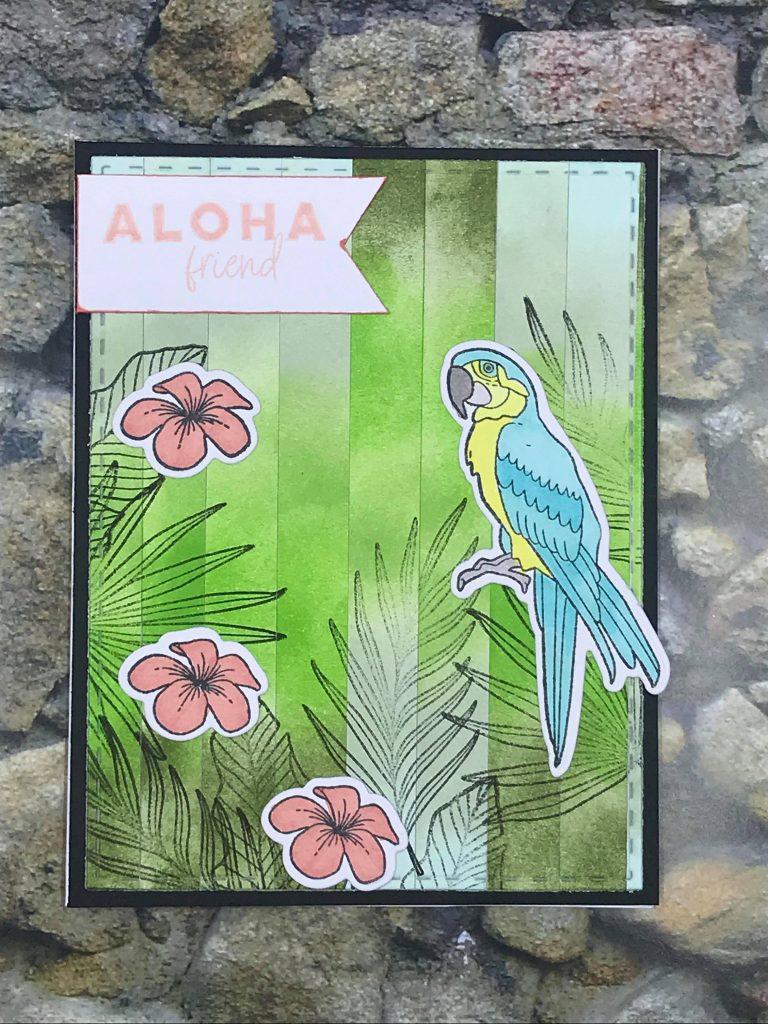 Palm Paradise Bargello Card