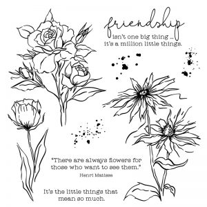 A Million Little Things floral stamp set